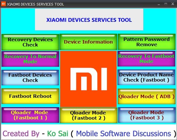 Download Xiaomi Service Tool HardReset info