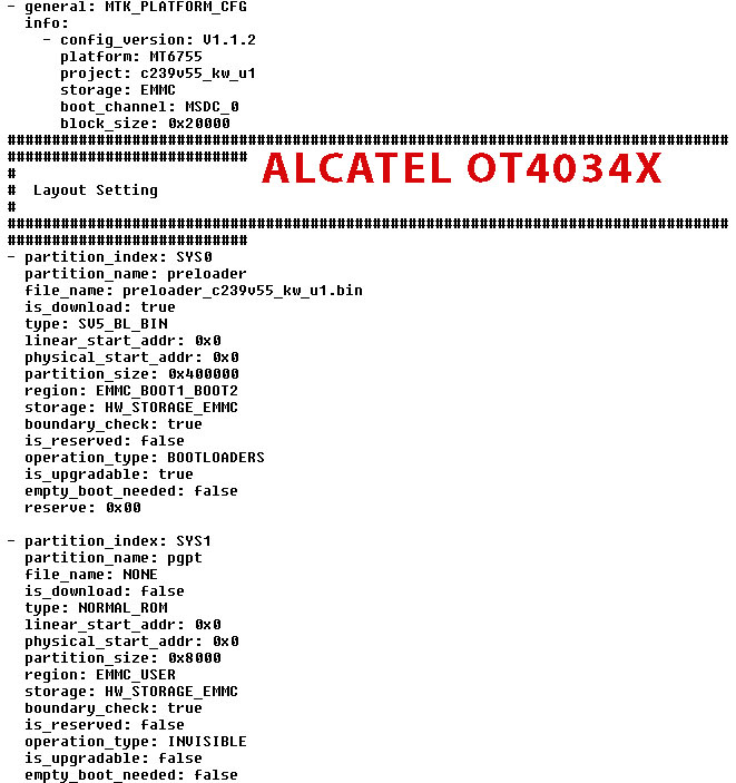 Download Alcatel 4034X scatter file HardReset info