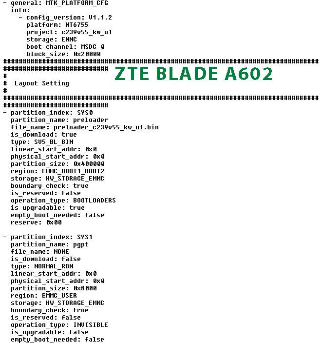 Download ZTE Blade A602 FRP unlock file HardReset info