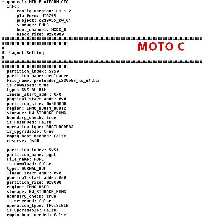 Download Lenovo Moto C Plus FRP unlock files HardReset info