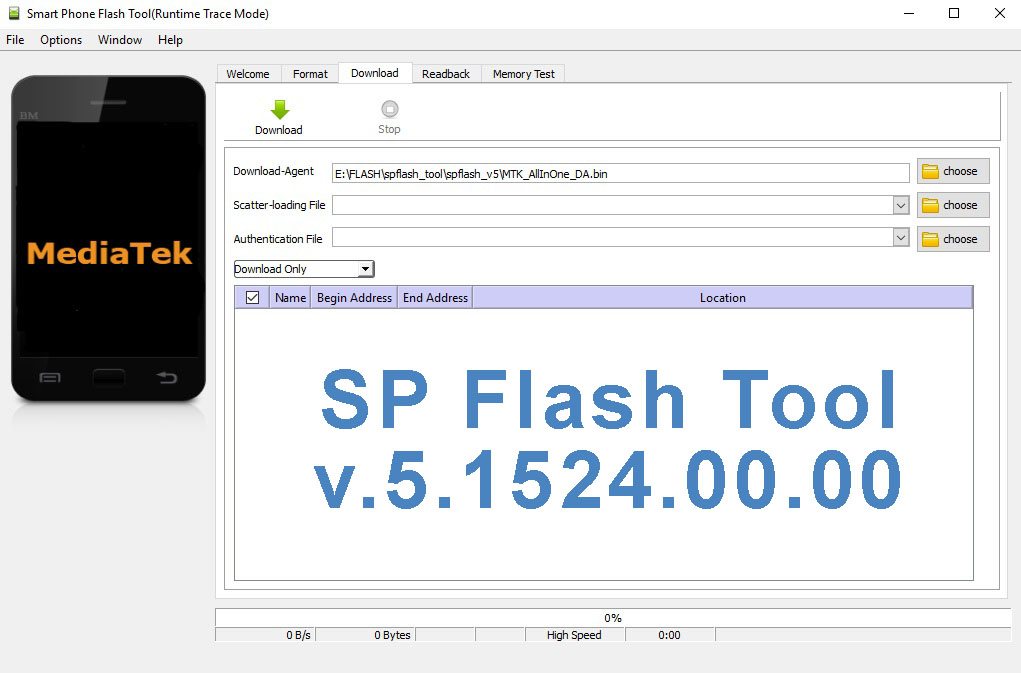 SPFlash Tool version 5.1524.00.000 - image on Hardreset.info