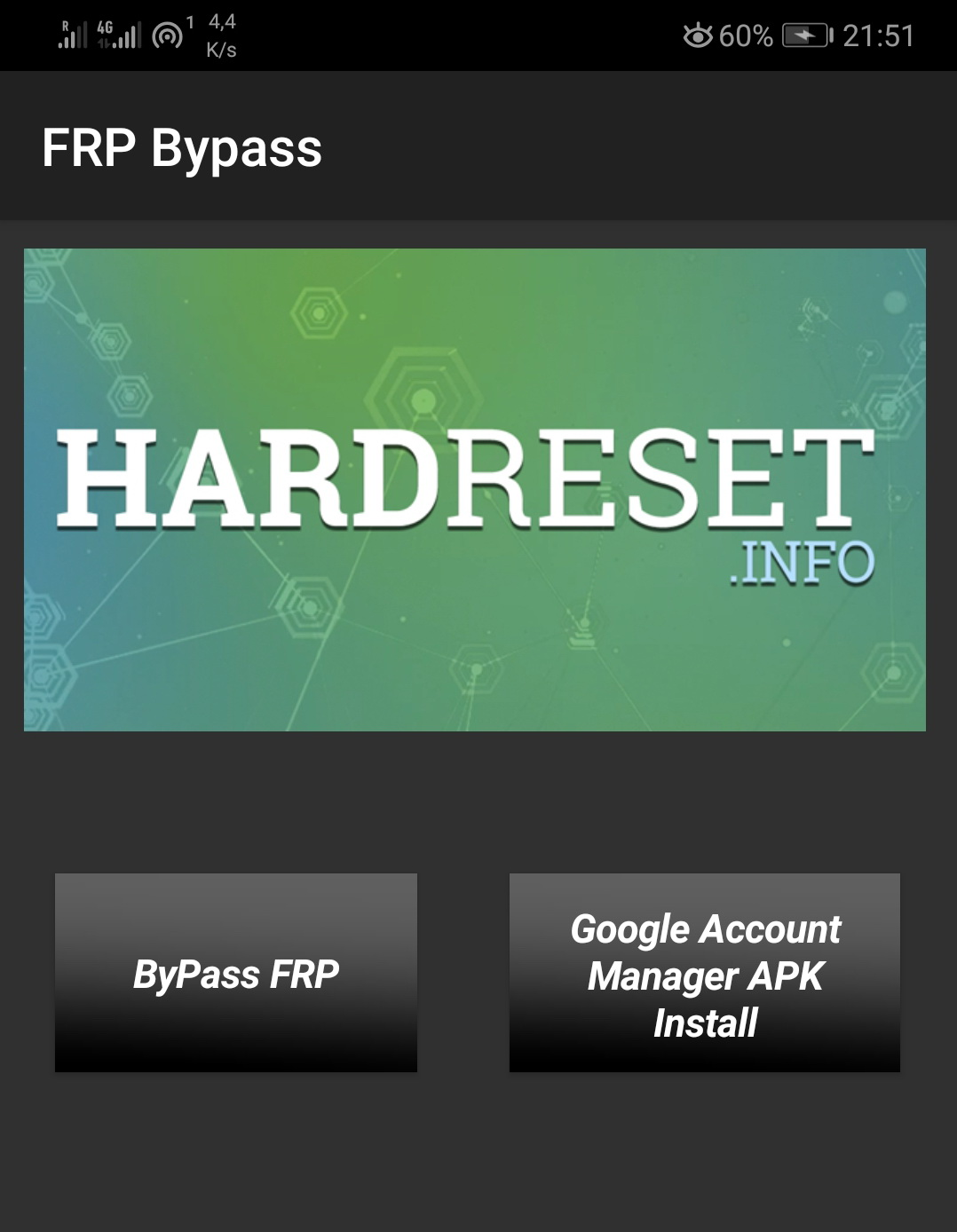 Google Account Protection bypass in Android 8 application - image on hardreset.info