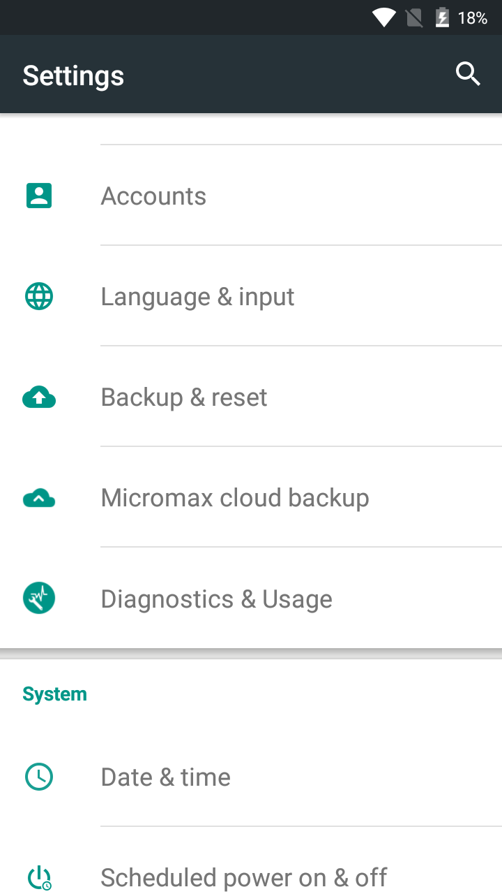 Android Settings APK - image on hardreset.info