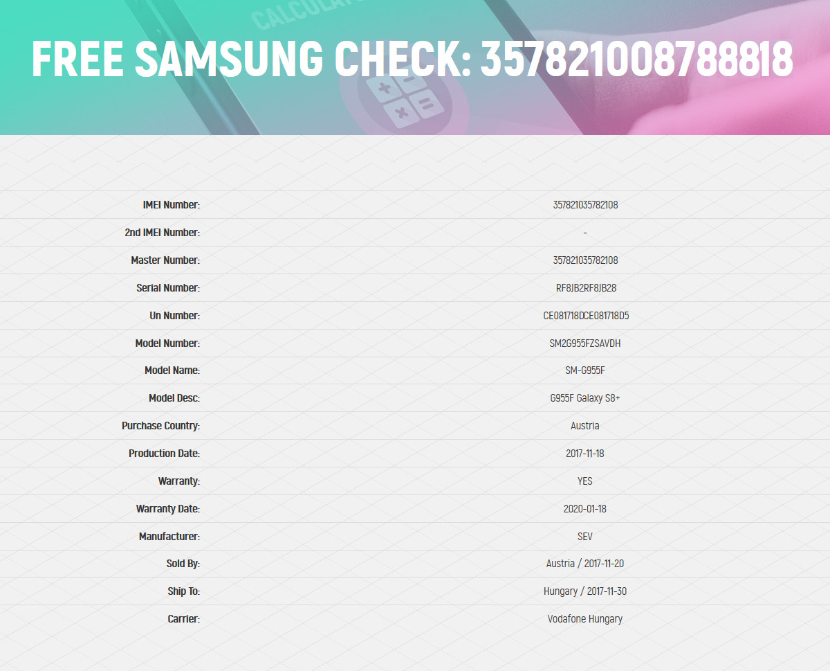Check Warranty Info in SAMSUNG G935F Galaxy S7 Edge