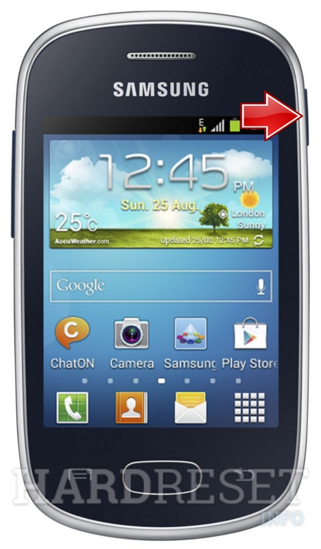 Factory Reset SAMSUNG S5280 Galaxy Star