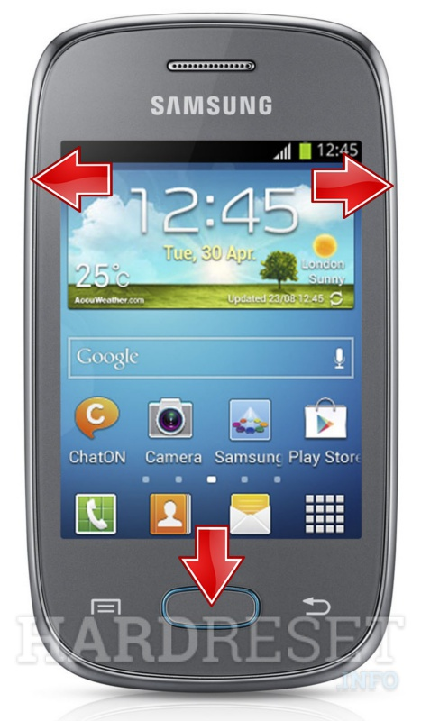 Hard Reset SAMSUNG S5310 Galaxy Pocket Neo