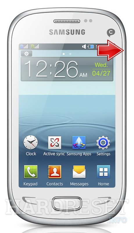 Remove screen password on SAMSUNG S5292 Rex 90