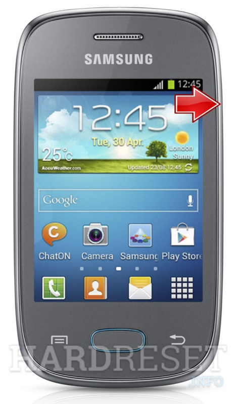 Factory Reset SAMSUNG S5310 Galaxy Pocket Neo