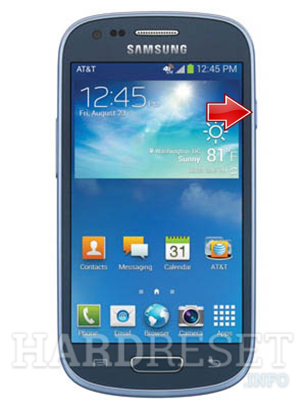 Factory Reset SAMSUNG G730A Galaxy S III mini (AT&T)