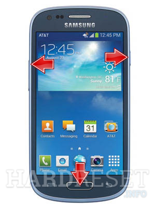 Remove screen password on SAMSUNG G730A Galaxy S III mini (AT&T)