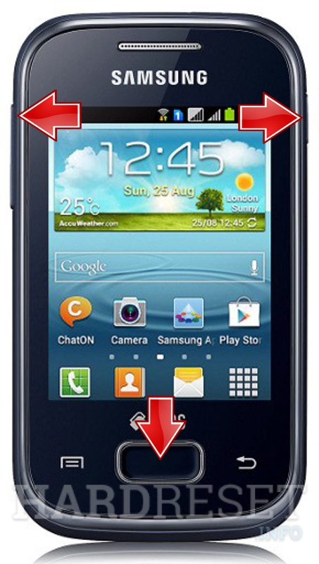 Remove screen password on SAMSUNG S5303 Galaxy Y Plus