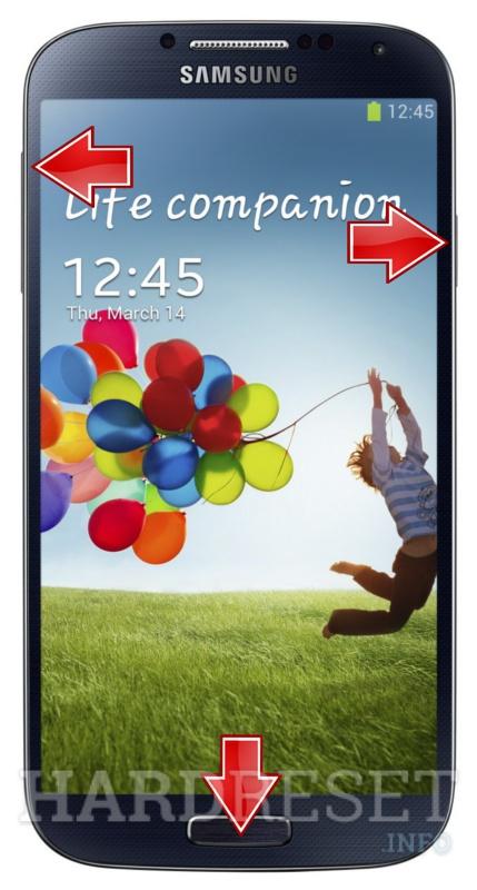 Recovery Mode SAMSUNG I9500 Galaxy S4 - HardReset info