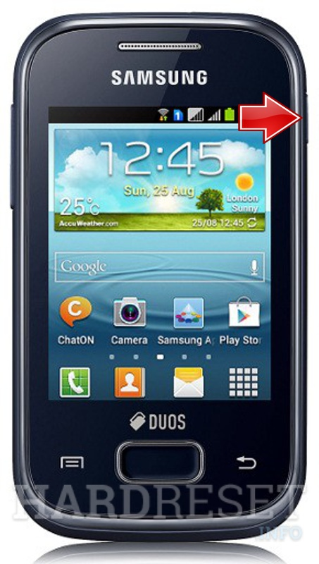 Factory Reset SAMSUNG S5303 Galaxy Y Plus