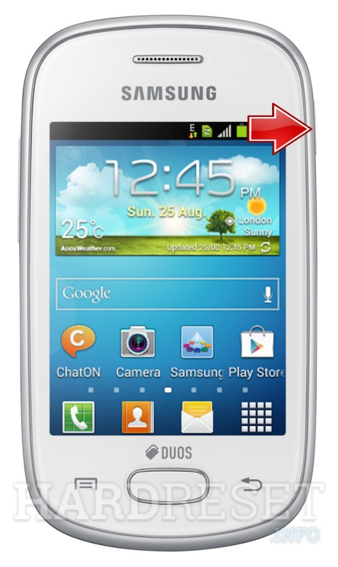 Factory Reset SAMSUNG S5282 Galaxy Star Duos