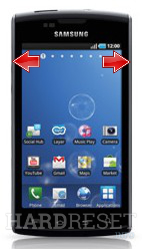 Hard Reset SAMSUNG I896 Galaxy S Captivate