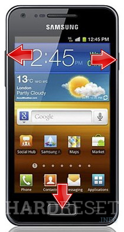 Hard Reset SAMSUNG I9070P Galaxy S Advance