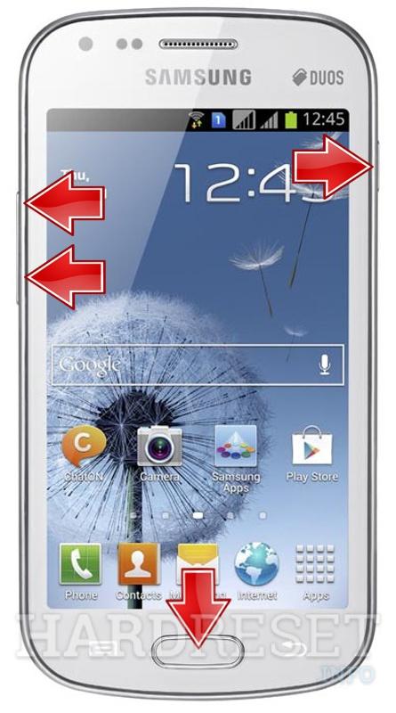 Reset SAMSUNG S7562 Galaxy S Duos