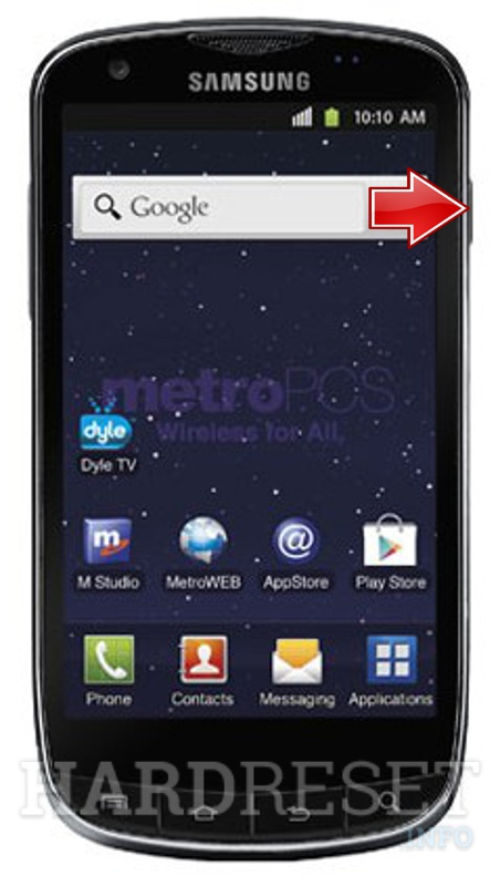 Factory Reset SAMSUNG R940 Galaxy S Lightray