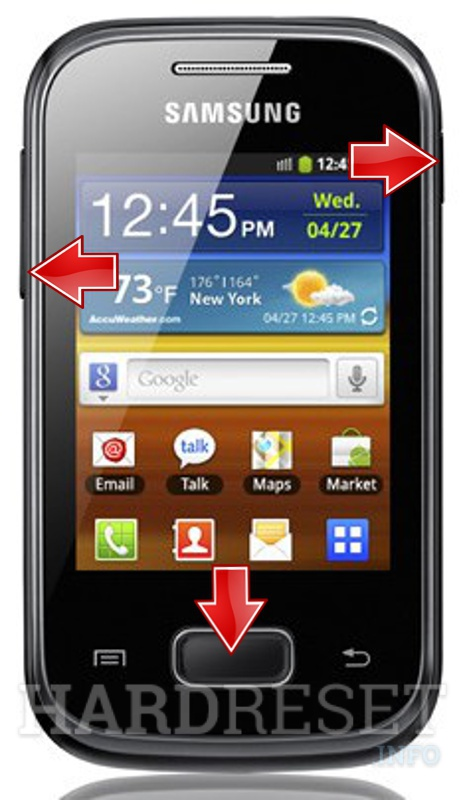Remove screen password on SAMSUNG S5300 Galaxy Pocket