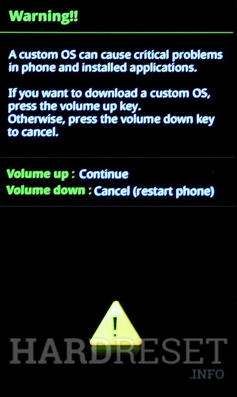 Download Mode SAMSUNG N7000 Galaxy Note - HardReset info