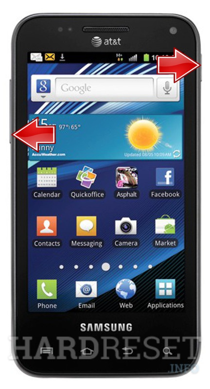 Hard Reset SAMSUNG i927 Captivate Glide
