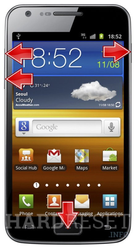 android galaxy s2 factory reset