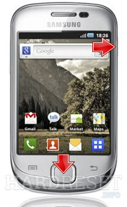 Hard Reset SAMSUNG S5670 Galaxy Fit
