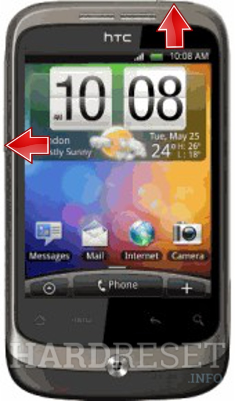 Remove screen password on HTC Wildfire