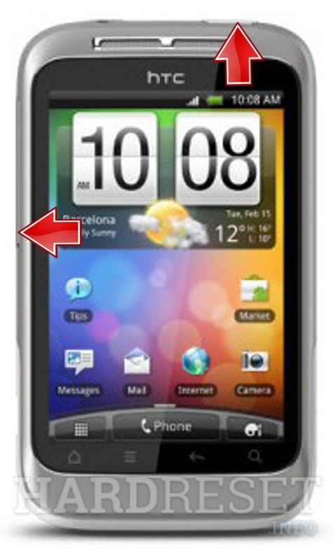 Hard Reset HTC Wildfire S