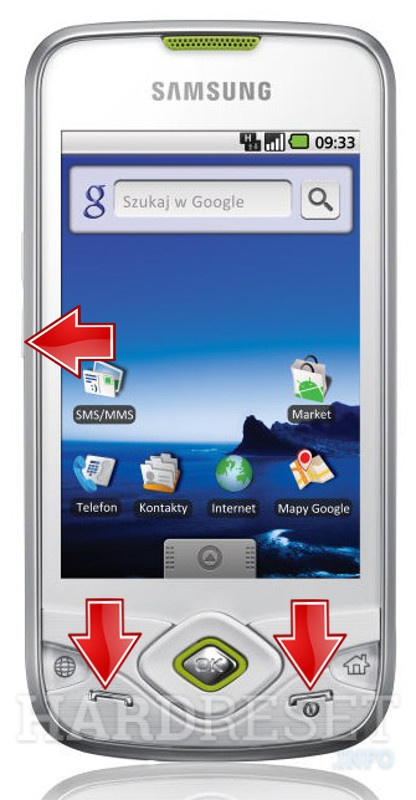 Remove screen password on SAMSUNG I5700 Galaxy Spica
