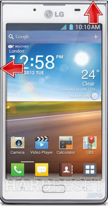 Remove screen password on LG P700 Optimus L7