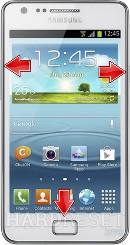 Remove screen password on SAMSUNG I9105 Galaxy S II Plus