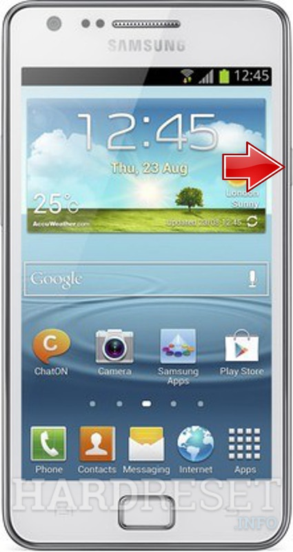 Factory Reset SAMSUNG I9105 Galaxy S II Plus