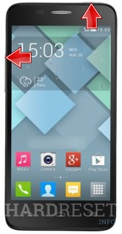 Wipe data on ALCATEL 6012 One Touch Idol Mini