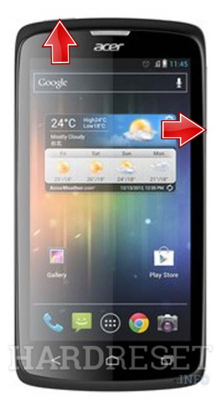 Factory Reset ACER Liquid C1