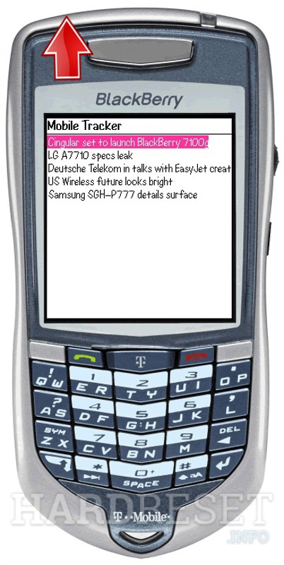 Hard Reset BLACKBERRY 7100t