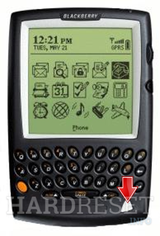 Hard Reset BLACKBERRY 5820