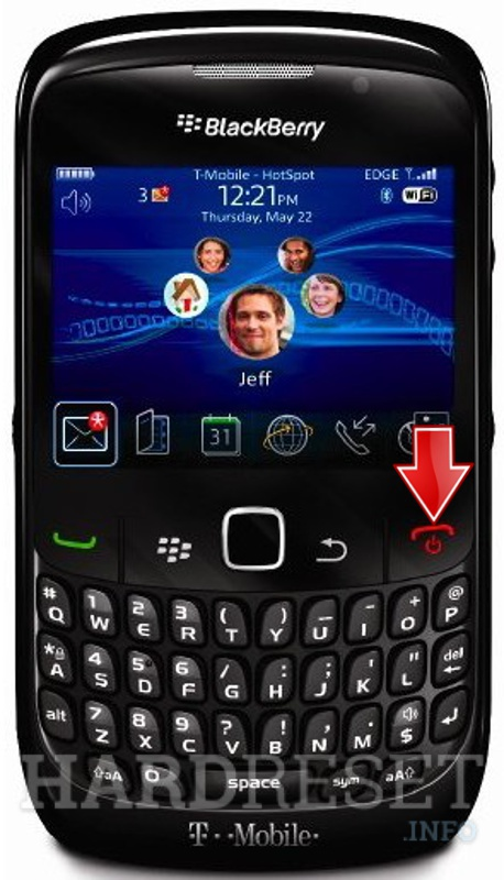Hard Reset BLACKBERRY 8530 Curve