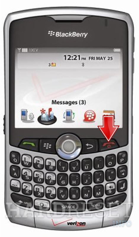 Hard Reset BLACKBERRY 8330 Curve