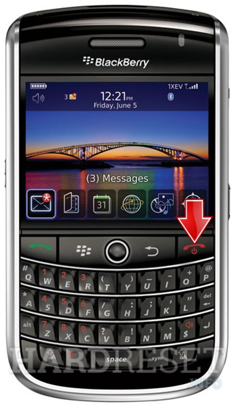 Hard Reset BLACKBERRY 9630 Tour