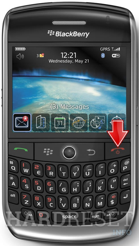 Hard Reset BLACKBERRY 8900 Curve