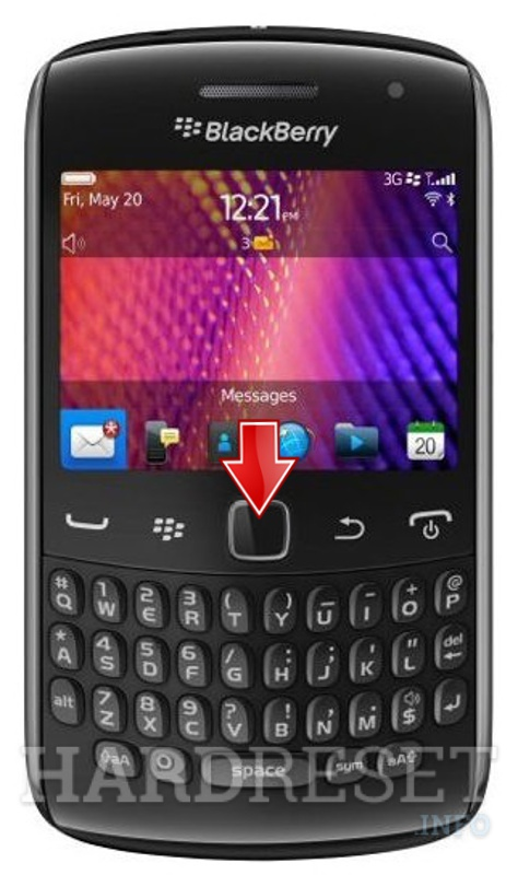 HardReset BLACKBERRY 9350 Curve