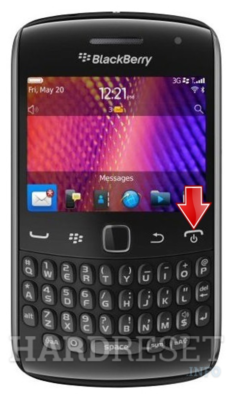Hard Reset BLACKBERRY 9350 Curve