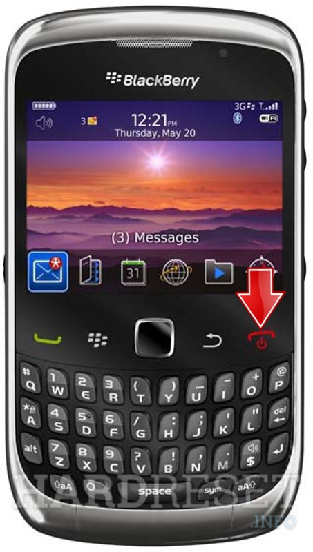 Hard Reset BLACKBERRY 9300 Curve 3G