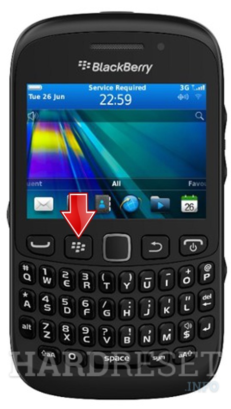 HardReset BLACKBERRY 9310 Curve