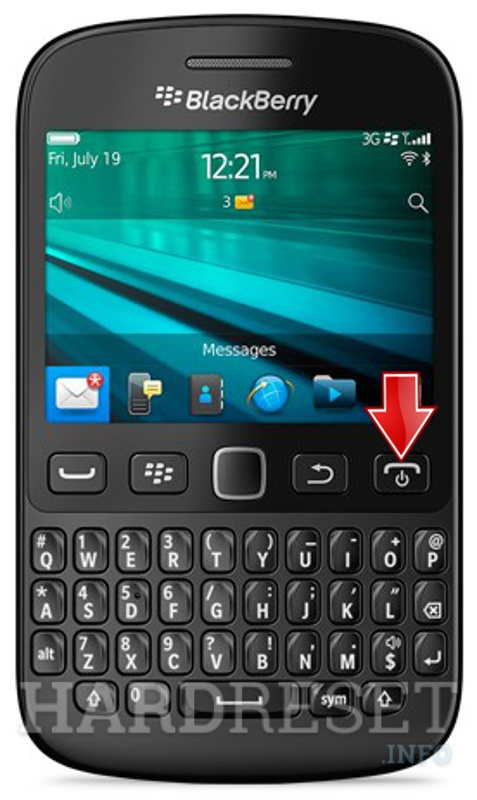 Hard Reset BLACKBERRY 9720