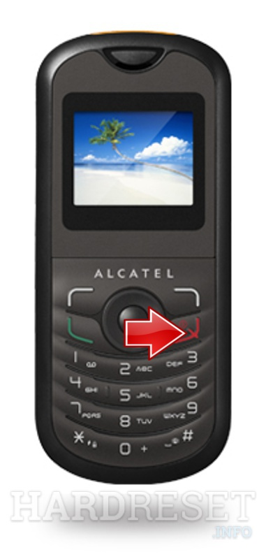 Hard Reset ALCATEL OT-103A