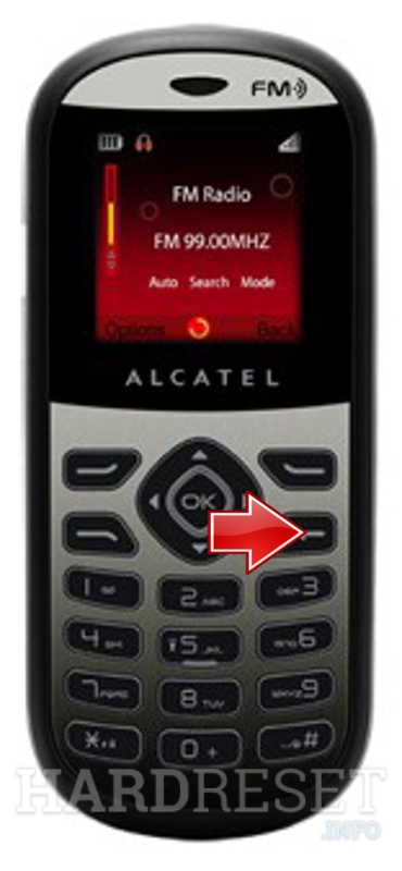 Hard Reset ALCATEL OT-209