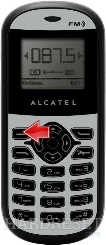 Factory Reset ALCATEL OT-109
