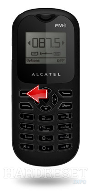 Factory Reset ALCATEL OT-108